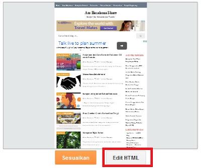 Kode Warna HTML Pengaturan Blog