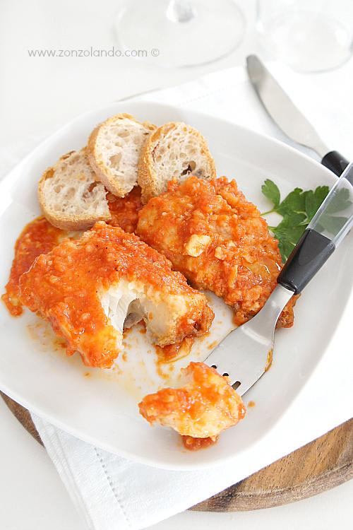 Baccalà marinato alla ligure ricetta - Traditional italian stewed cod recipe