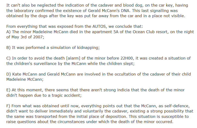Excerpt from 'madeleine' by Kate McCann