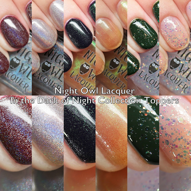 Night Owl Lacquer In the Dark of the Night Collection Toppers