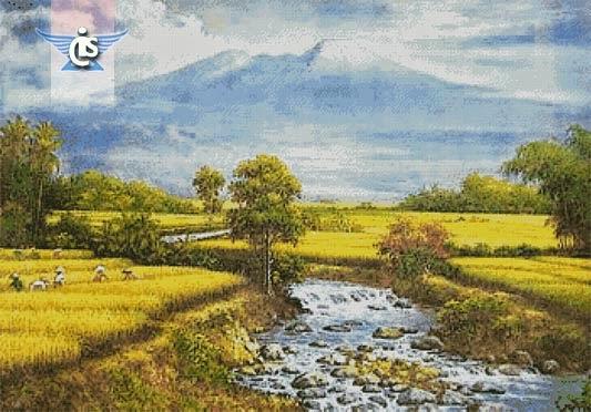 970 Koleksi Lukisan Pemandangan Sawah Padi Waktu Senja Terbaru
