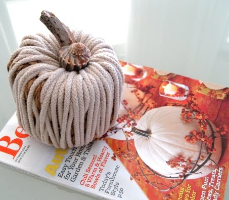 rope pumpkin craft
