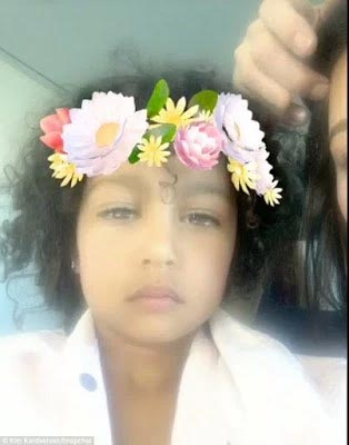 Check out Kim K's 3-year-old daughter North West in makeup