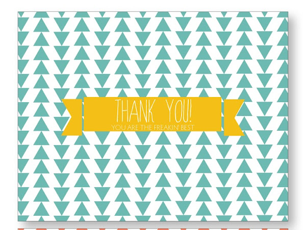 Triangle Thank You Cards