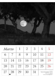 calendario,fotografia,luna,2017