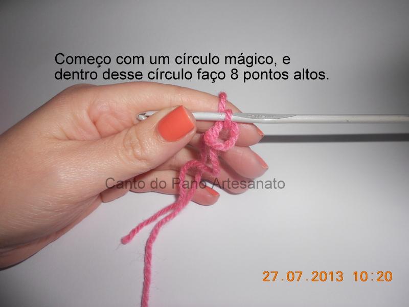 2ef5ed231130a Canto do Pano Artesanato  Boina ou Gorro Infantil em Crochê com PAP ...