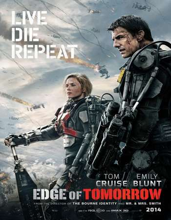 Poster Of Edge of Tomorrow 2014 Hindi Dual Audio 500MB BRRip 720p ESubs HEVC Free Download Watch Online downloadhub.in