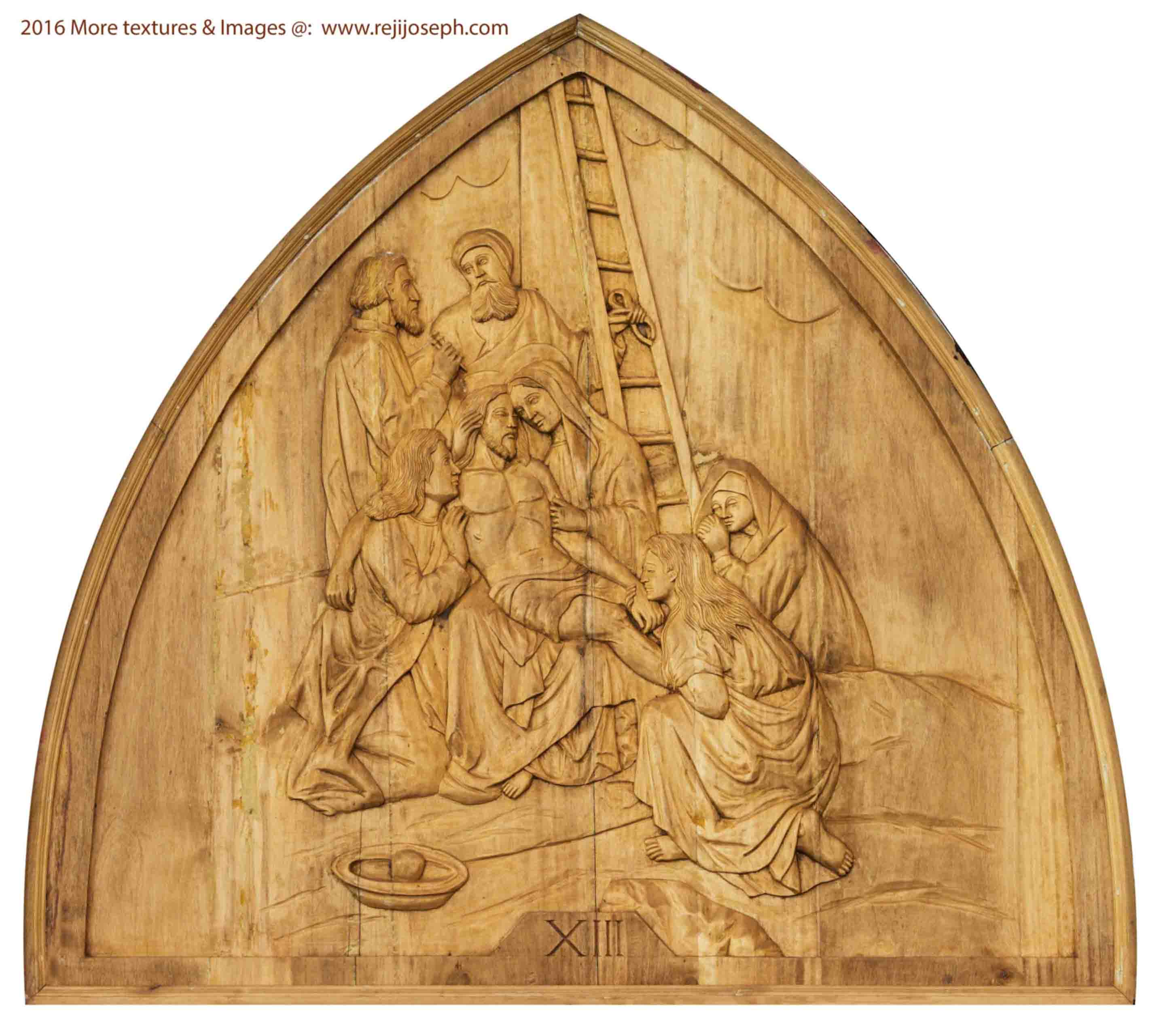 Way of the cross wooden relief 013