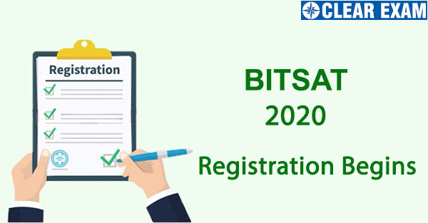 BITSAT Registration 2020