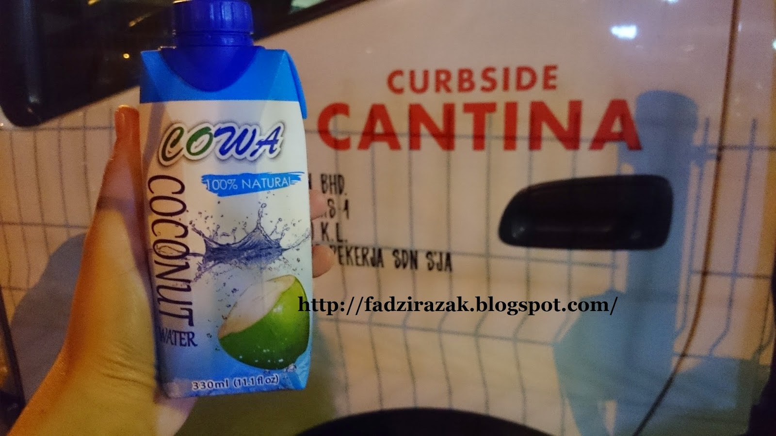 Coconut water Curbside Cantina