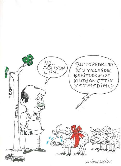 kurban etmek karikatür