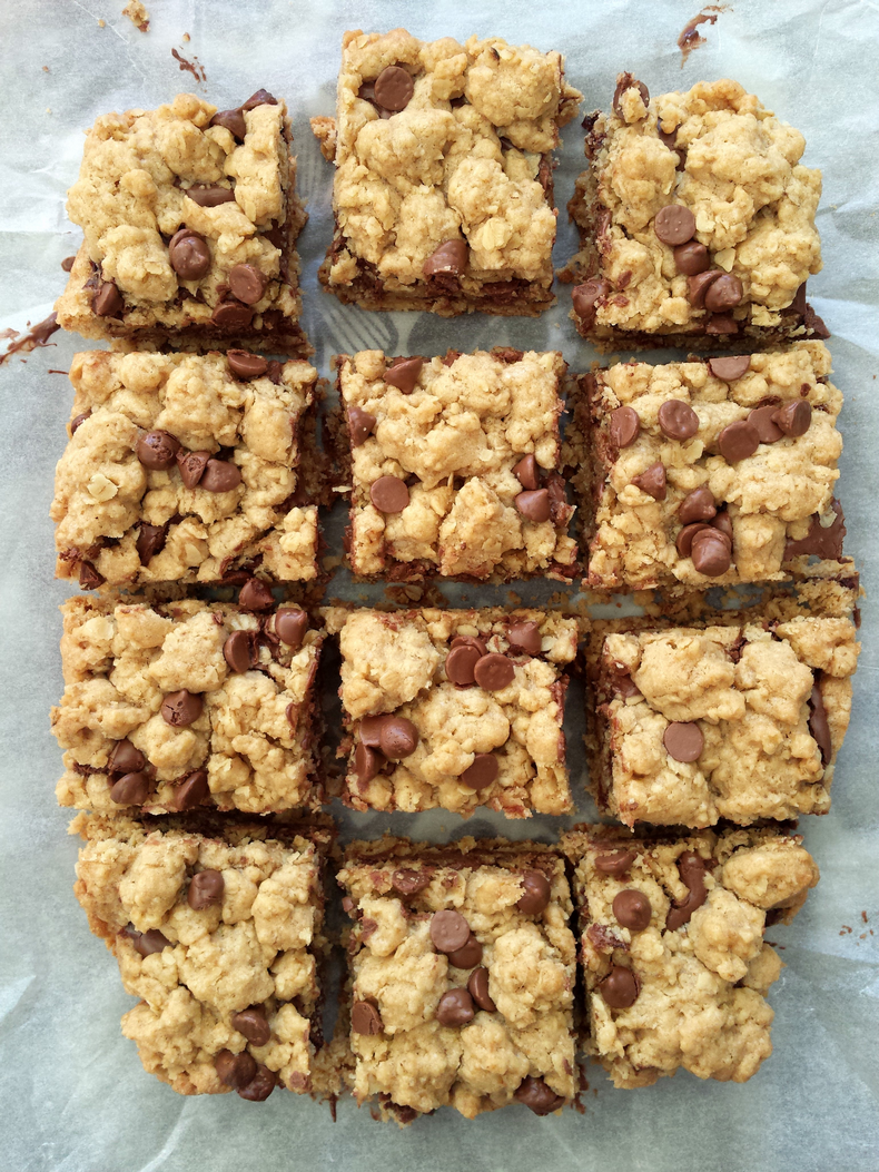 nutella oatmeal bars