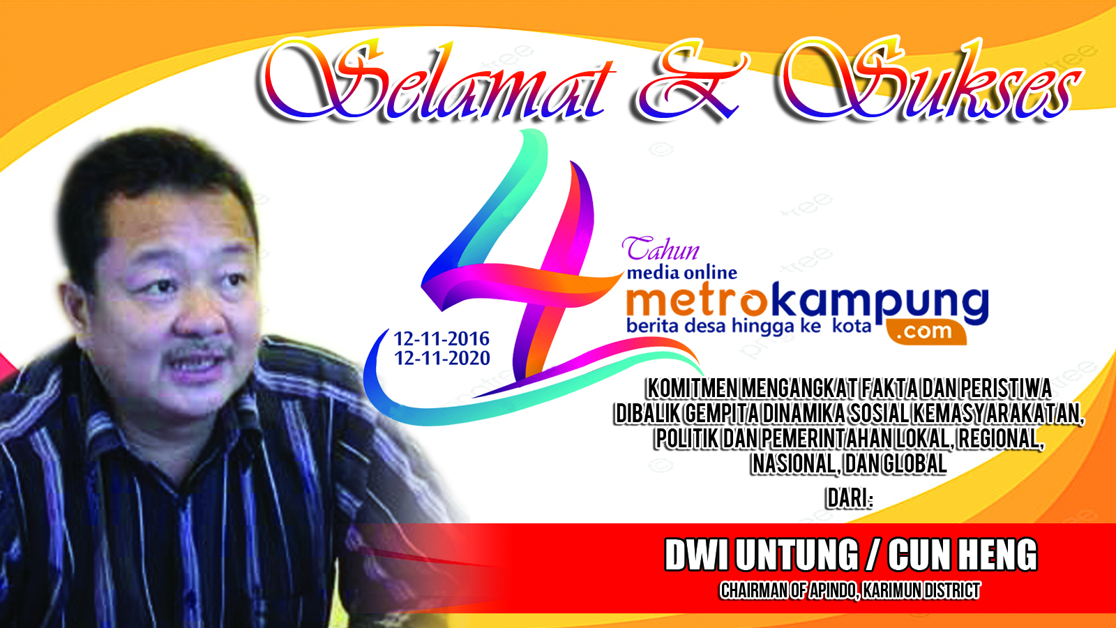 CHAIRMAN OF APINDO, KARIMUN DISTRICT