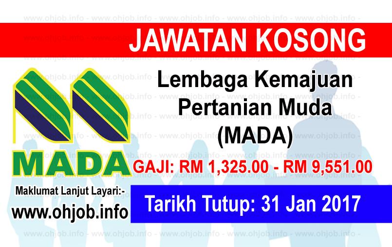 Jawatan Kerja Kosong Lembaga Kemajuan Pertanian Muda (MADA) logo www.ohjob.info januari 2017