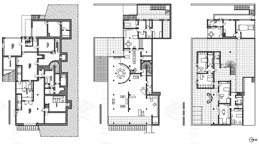 Tugendhat House-Mies Van Der Rohe Cad drawing, AutoCAD and - plan maison architecte d