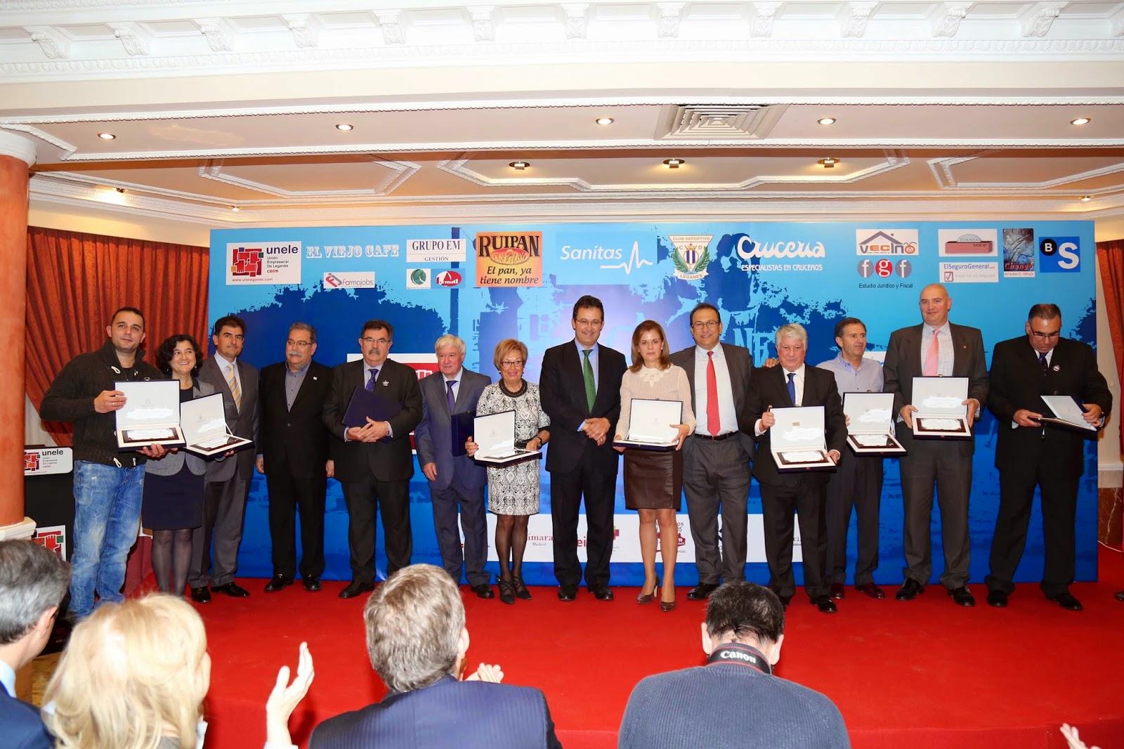 95bbbbb98b0ba La Unión Empresarial de Leganés (UNELE) entregó el miércoles 10 de  diciembre de 2014 los  IV Premios Empresariales Ciudad de Leganés .