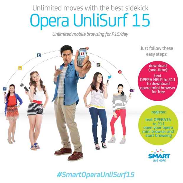 Enjoy the Unli Surfing with Smart's Opera UnliSurf15 and UnliSurf60 promo