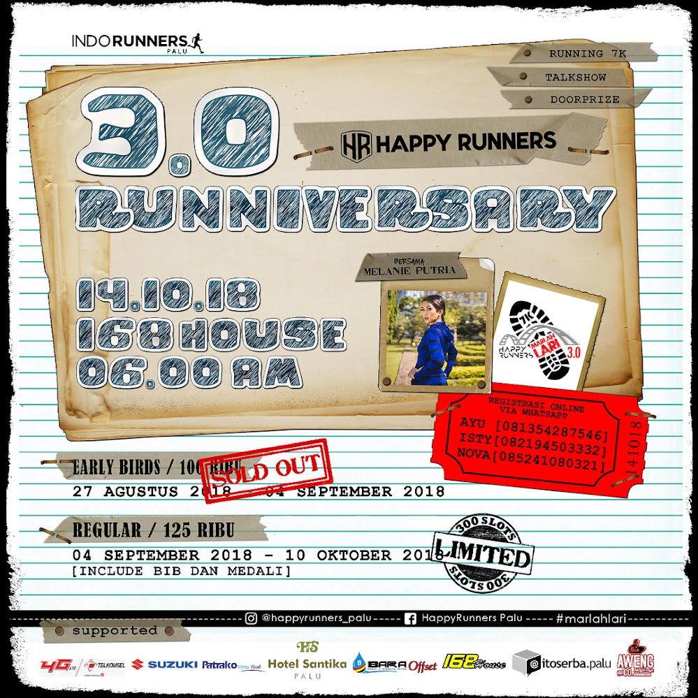 Happy Runners Palu 3.0 Runniversary • 2018