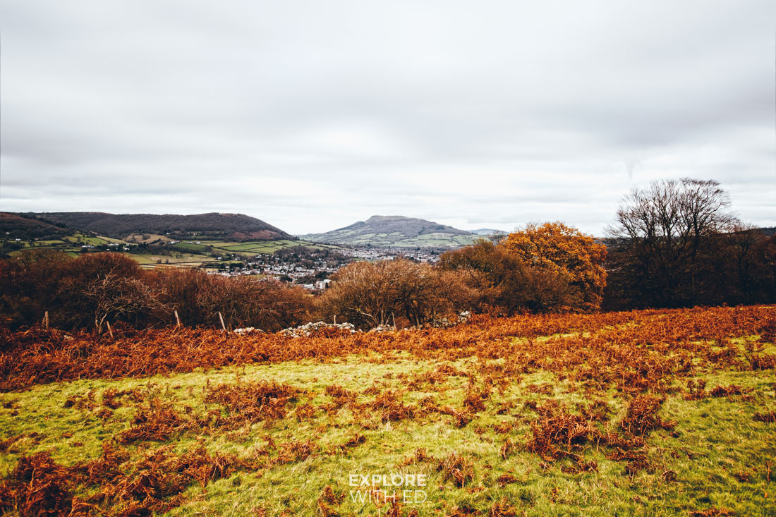 View from the Blorenge, Walking tours in Abergavenny