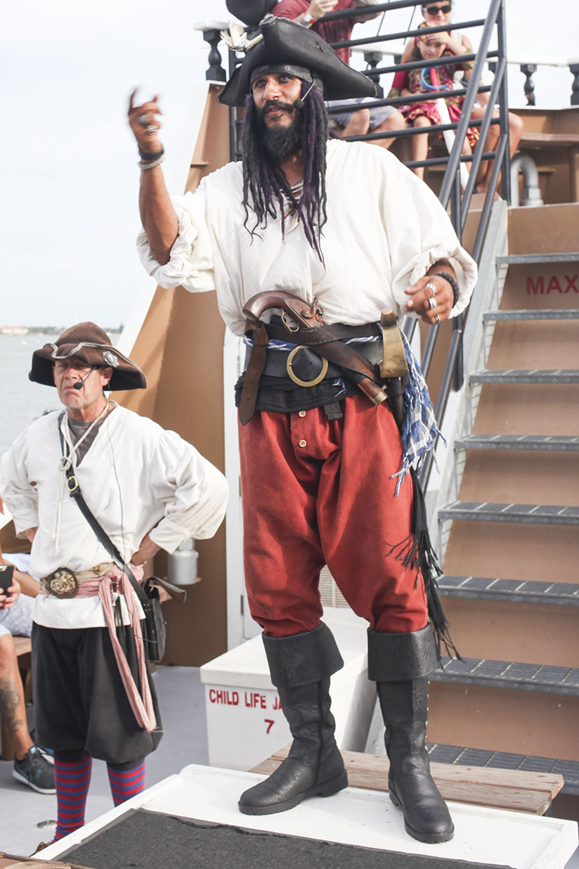 Pirate aboard the Black Raven Pirate Ship