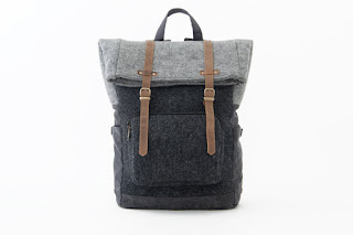 Oliday felt foldover backpack