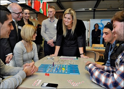 Crown Princess Maxima visited the My School project at the ROC Graafschap Doetinchem College. The Oranje Fonds