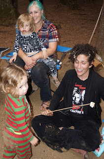 Marshmallows at Seattle Vegan Families Camping Trip
