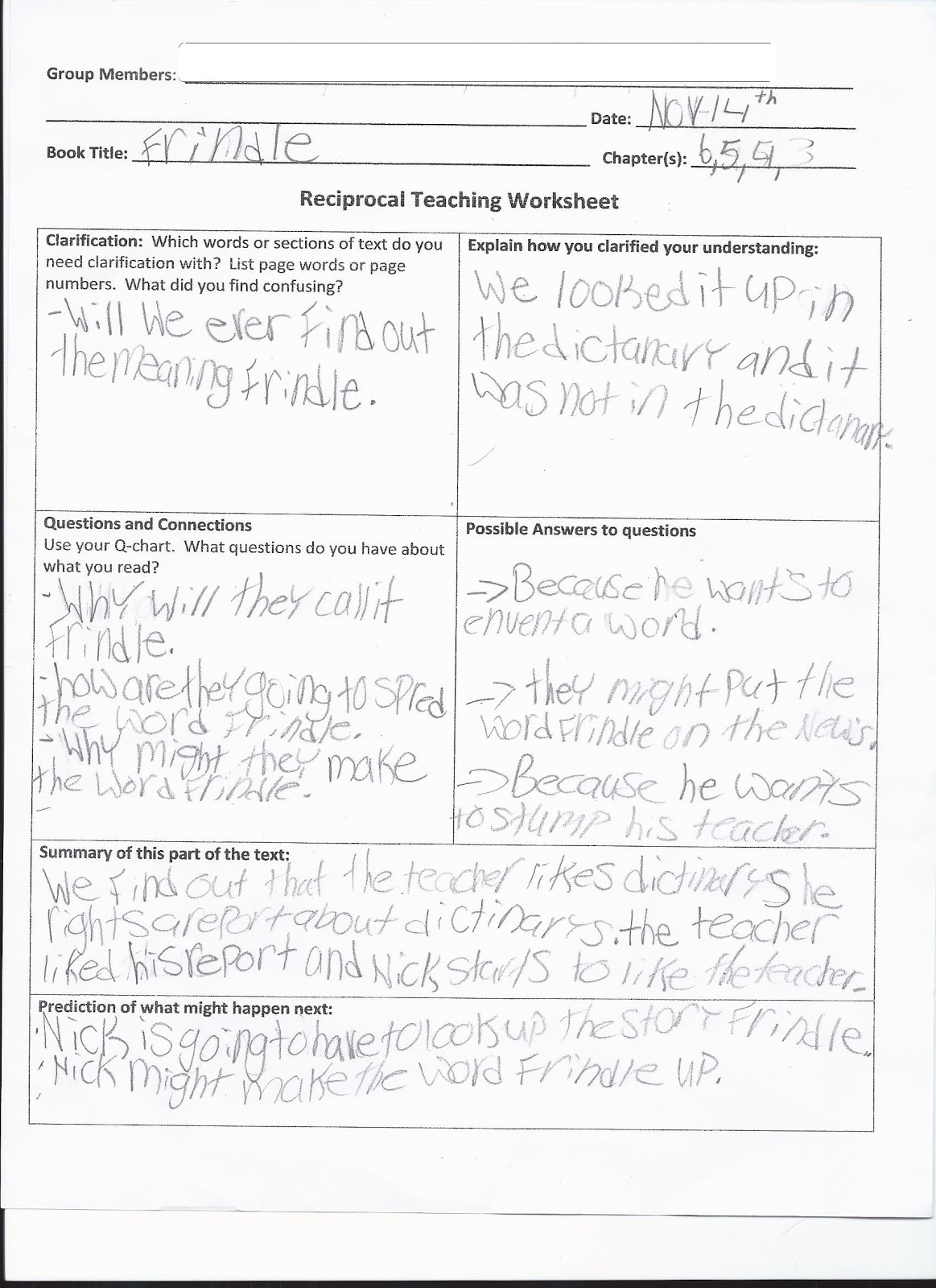 Making Shift Happen: Reciprocal Teaching