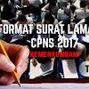 Berikut Format Surat Lamaran CPNS 2017 Dari Pusat Beserta Kelengkapannya