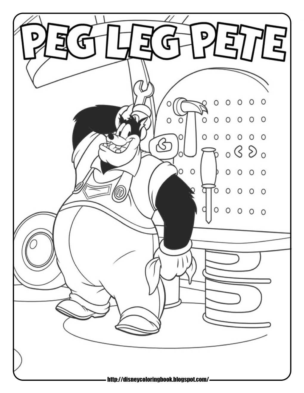 Mickey Mouse Clubhouse Goofy Coloring Pages