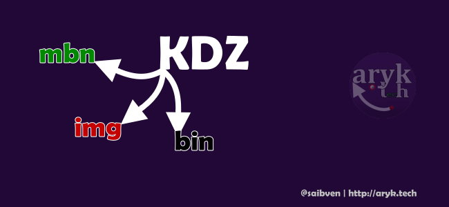 Convert .kdz file to .bin, .img and .mbn files