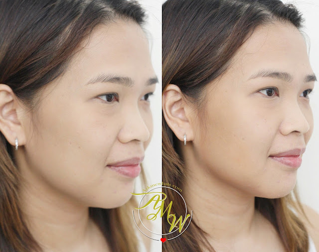 before and after photo of askmewhats using Benefit Hoola Quickie Contour Stick