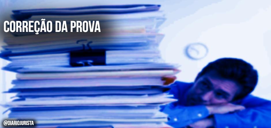 Quanto à correção do exame da OAB