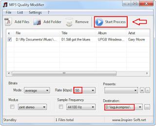 Cara Memperkecil Atau Mengompres Ukuran Lagu MP Cara Memperkecil Atau Mengompres Ukuran Lagu MP3