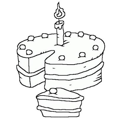 Gambar Mewarnai Kue Ulang Tahun - 20