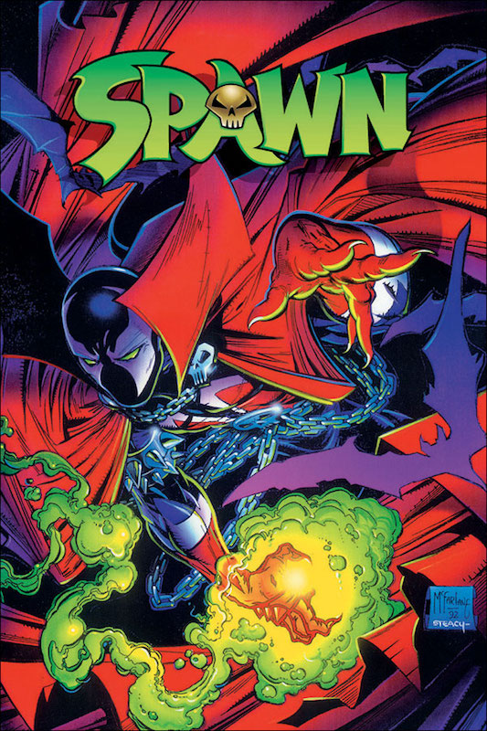 Spawn #1, By Todd McFarlane Letters: Tom Orzechowski Colors: Steve Oliff.