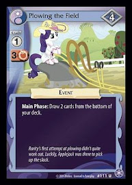 My Little Pony Plowing the Field The Crystal Games CCG Card