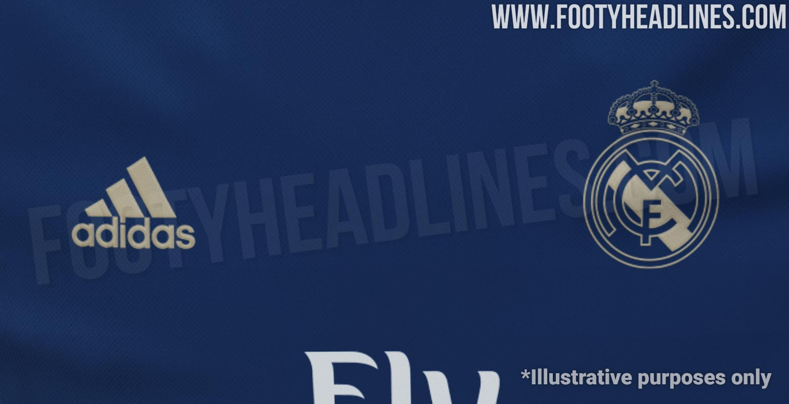 Real Madrid Away Kit Real Madrid 19-20 Away Kit To Be Navy & Gold - Footy Headlines