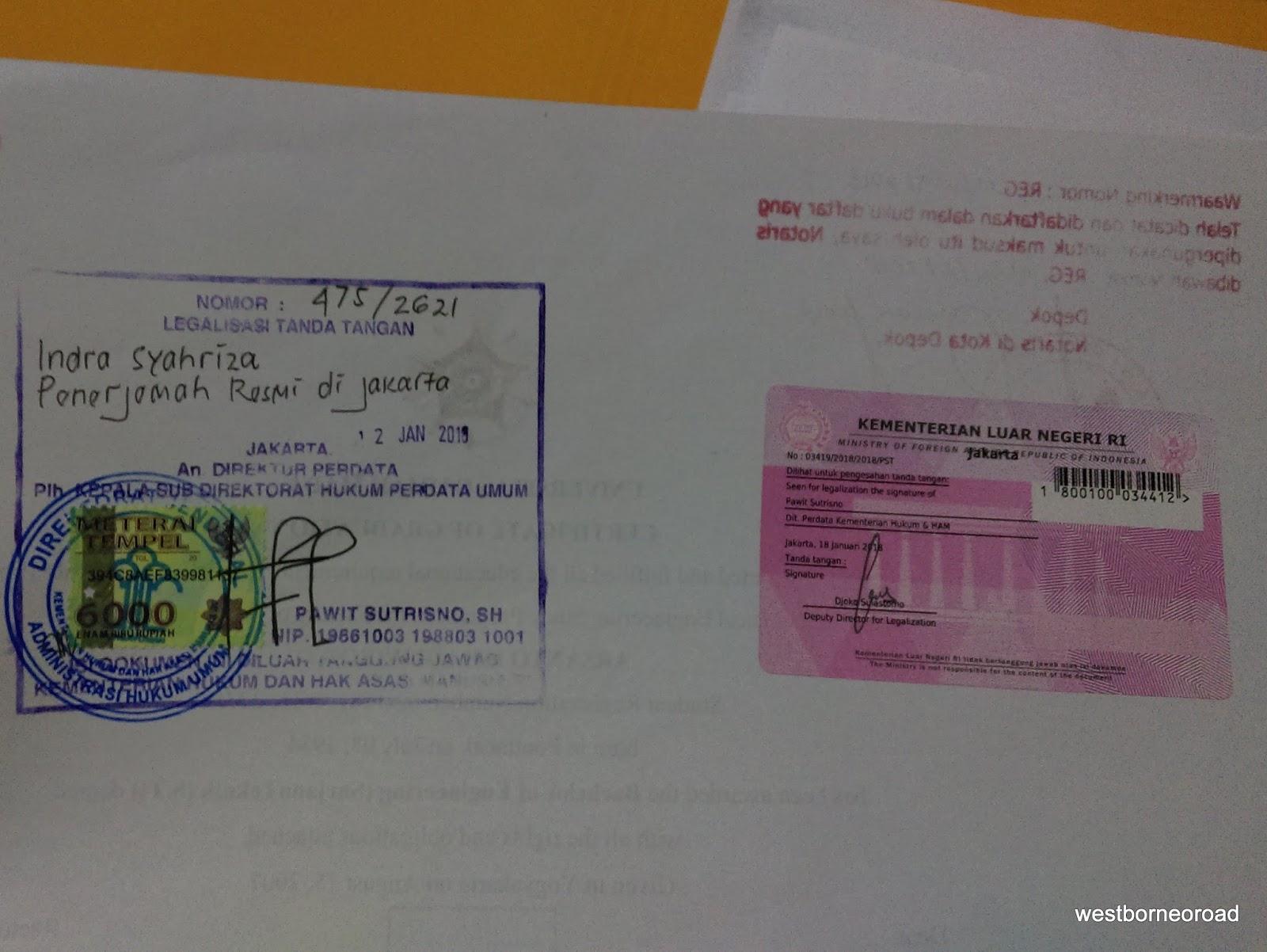 West Borneo Road Pengalaman Mengurus Legalisir Dokumen Untuk Persayaratan Visa Belajar S2 Di Taiwan
