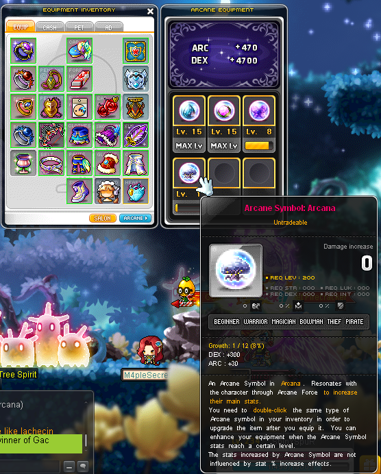 maplestory how to get arcane force