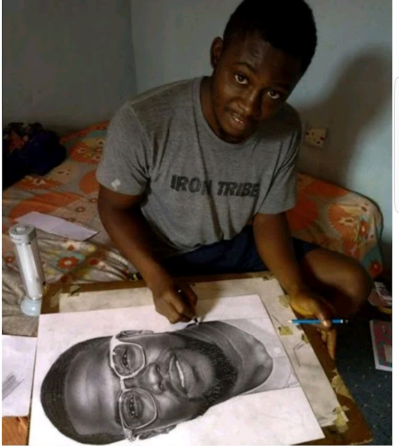 Kevin Hart reaches out to talented Nigerian who did a drawing of him