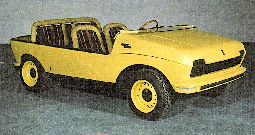a 1969 Fiat 128 Beach Buggy color photograph