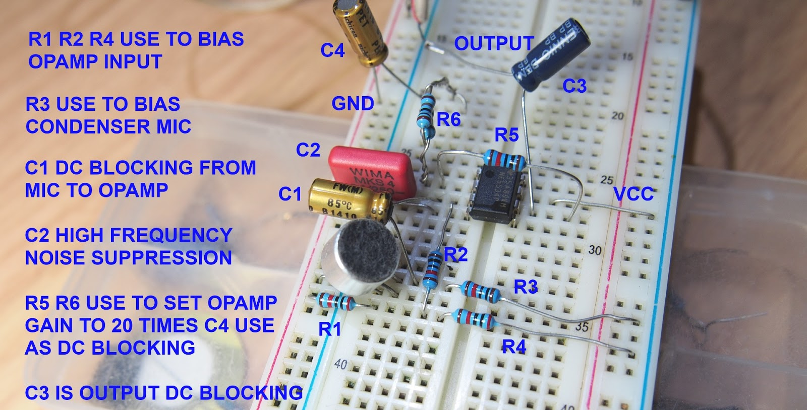 Microphone Preamplifier Circuit Diagram Using Lm348 Ic
