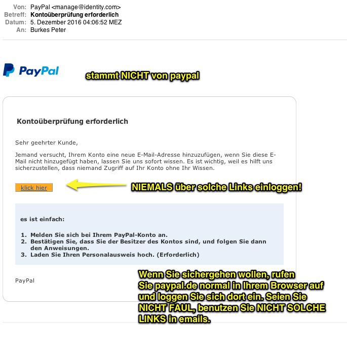 Ihr Paypal Konto Konnte Nicht HinzugefГјgt Werden