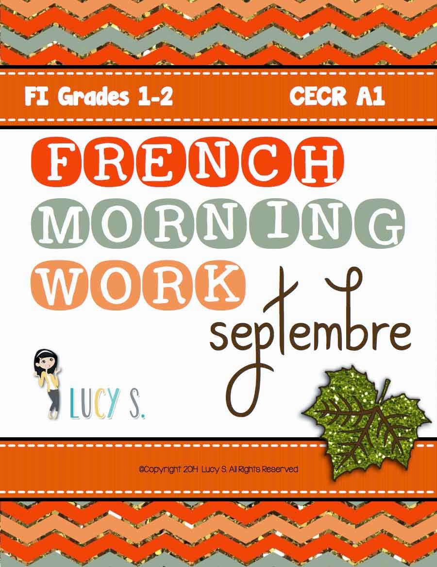 French Language Morning Work SEPTEMBRE - 20 worksheets