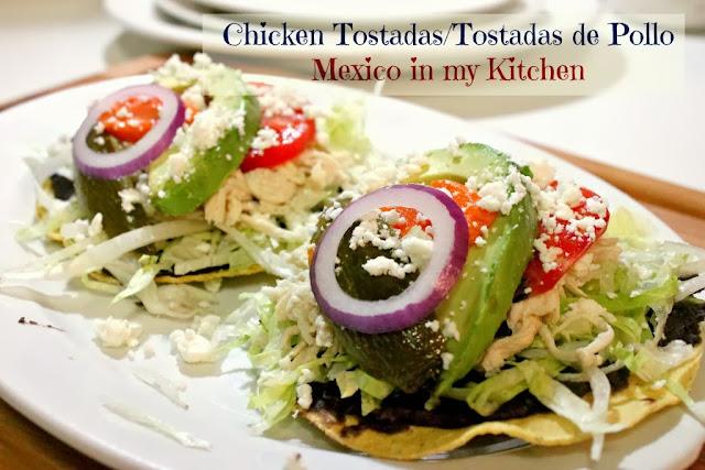 Chicken Tostadas, a classic mexican dish