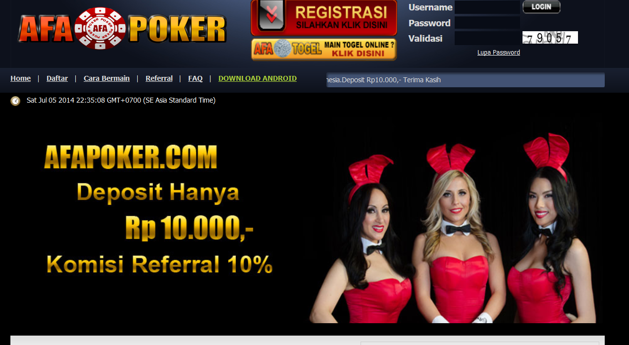 Afa Poker Line Indonesia Poker Line Asia