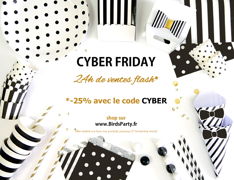 CYBER FRIDAY: -25% sur BirdsParty.fr