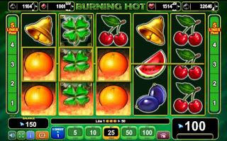 Burning Hot jocuri cu fructe pacanele