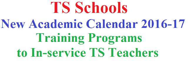 Training Programs,In-service TS Teachers, TS Schools